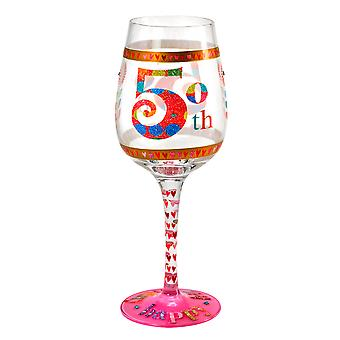 Here's To You 50th Birthday Wine Glass
