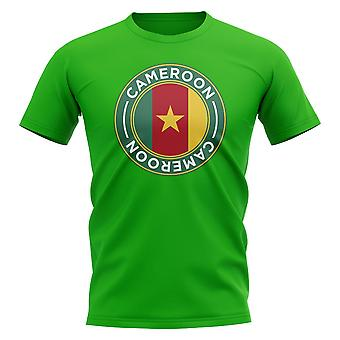 Cameroon Football Badge T-Shirt (Green)