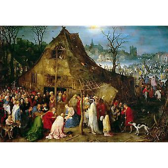لون الجسم على vellum، يان Brueghel الأكبر، 60x40cm