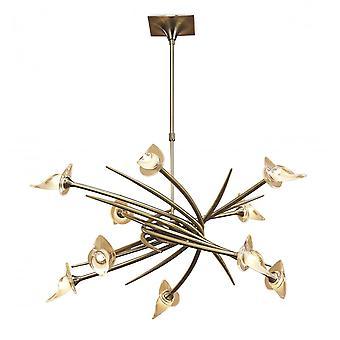 Mantra Flavia hanger up-down ronde 10 licht G9, antiek messing
