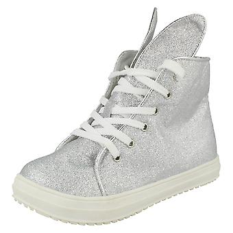 Girls Spot On Hi-Top Casual Trainers H4126