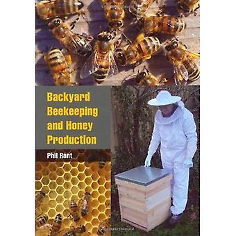 Patio trasero de la apicultura y producción de miel