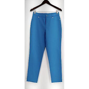 Isaac Mizrahi Live! Pantalones regulares de punto de Ponte Azul A260963