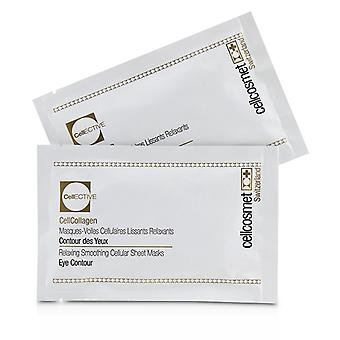 Cellcosmet & Cellmen Cellcosmet Cellecosmet Cellcollagen Occhio Contorno Rilassante Smoothing Cellular Sheet Masks - 5x2patchs