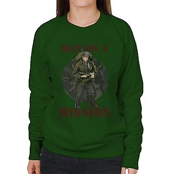 Action Man On A Mission Women's Sweatshirt