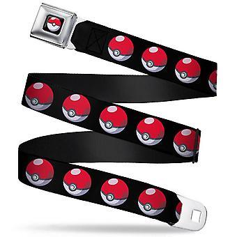 Seatbelt Belt - Pokemon - V.61 Adj 24-38' Mesh New pka-wpk124