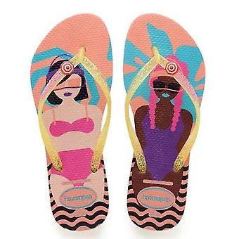 Cool Havaianas, Sparkle Straps, Beach design Soles Slim Style