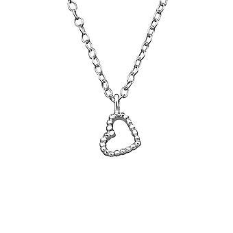 Corazón - 925 collares lisos de plata de ley - W39241X