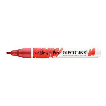 Talens Ecoline Liquid Watercolour Brush Pen - 334 Scarlet