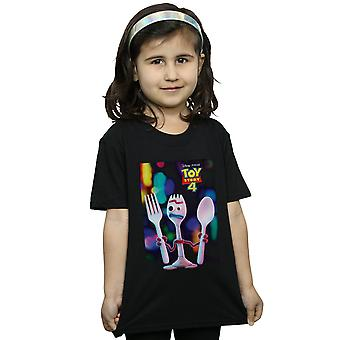 Disney Girls Giocattolo Storia 4 Forky Poster T-Shirt