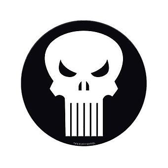 Punisher hvidt kranium symbol klistermærke