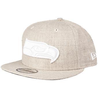 New Era 9Fifty Snapback Cap - Seattle Seahawks heather oat