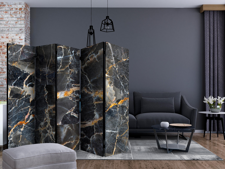 Paravent 5 volets - Black Marble [Room Dividers]
