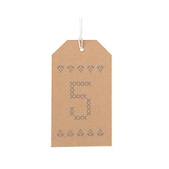 24 Printed Number Design Kraft Tags & Twine - Advent Calendar Crafts