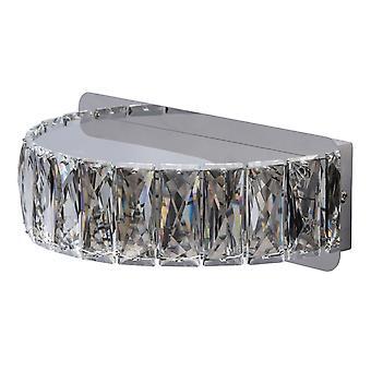 Glasberg - Chrome et cristal rond LED applique murale 498023001