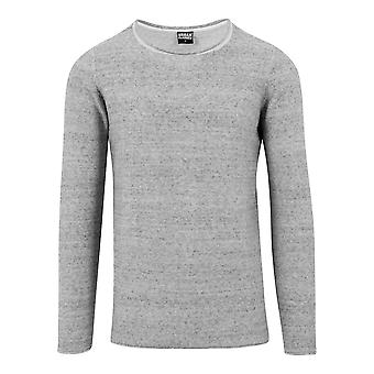 Urban Classics Men's Sweatshirt Fine Knit Melange Cotton