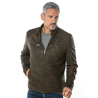 Hamish Leather Jacket in Brown