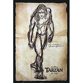 Tarzan (Advance Style A Double Sided) Original Cinema Poster