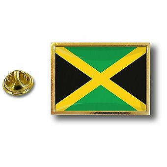 Pine PineS Badge Pin-apos;s Metal With Butterfly Pinch Jamaican Flag