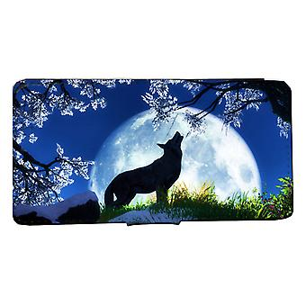 iPhone 7/8 wallet case night Wolf mon dog case shell