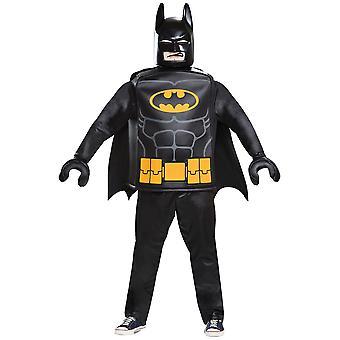 Batman Lego DC The Batman Movie Deluxe Superhero Adult Homme Costume L-XL