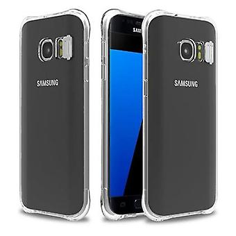 Cadorabo Caja para Samsung Galaxy S7 - Caja en STAR TRANSPARENT - TPU Silicone Phone Case in LED Flash Light Design - Caso de protección de silicona Ultra Slim Soft Back Cover Case Bumper