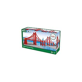 Brio 33683 Brio Double Suspension Bridge  Wooden Railway