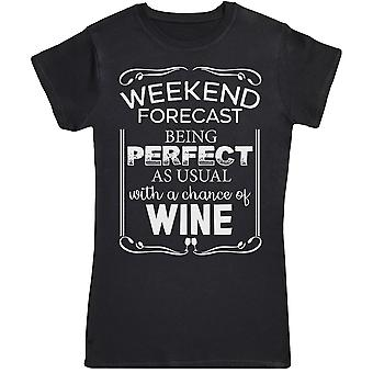 Weekend voorspelling wordt perfect-Womens T-shirt