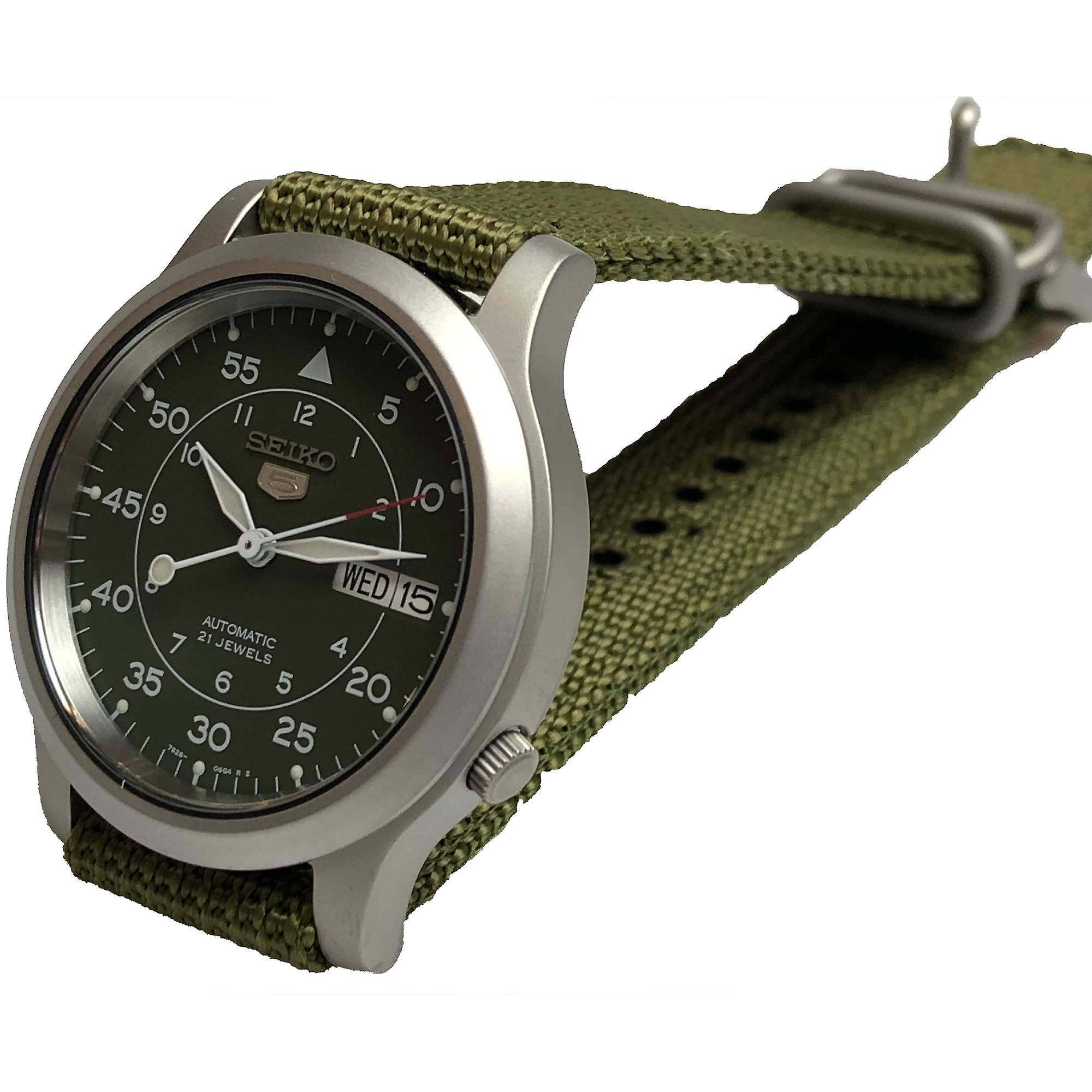 Seiko 5 Automatic Military Style Green Men's Watch SNK805K2