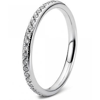 Bague en diamant - 18K 750/- or blanc - 0.33 ct. Taille 59