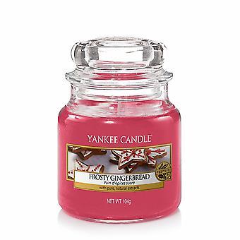 Yankee Kerze klassische Medium Jar Frosty Lebkuchen 411g