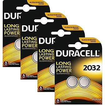 8 x Duracell CR2032 3V Lithium Coin Cell Battery 2032, DL2032, BR2032, SB-T15