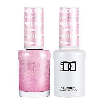 DND Duo Gel & Nail Polish Set - Warming Rose 708 - 2x15ml