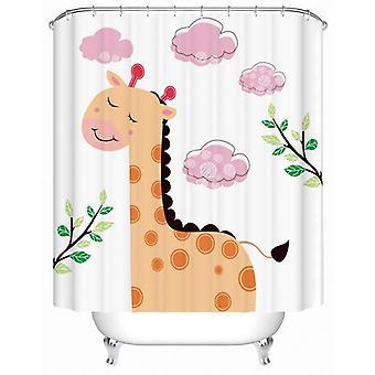 Cartoon Giraffe painting Shower Curtain