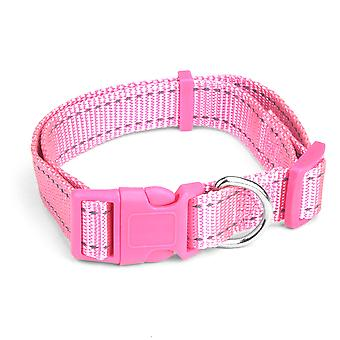 Medium Pink Adjustable Reflective Collar