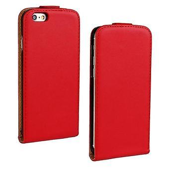 iPhone 6 Plus/6s Plus DeLuxe nahka kotelo mobiili lompakko-punainen