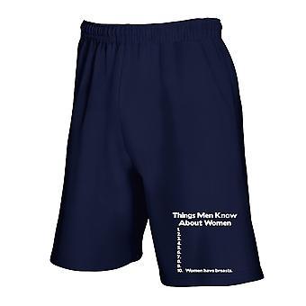 Pantaloncini tuta blu navy trk0569 wmen know