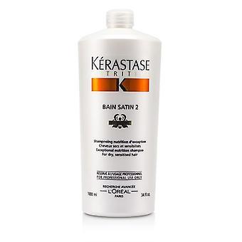 Kerastase Kerastase Nutritive Bain Satin 2 Complete Nutrition Shampoo (for Dry & Sensitised Hair) - 1000ml/34oz