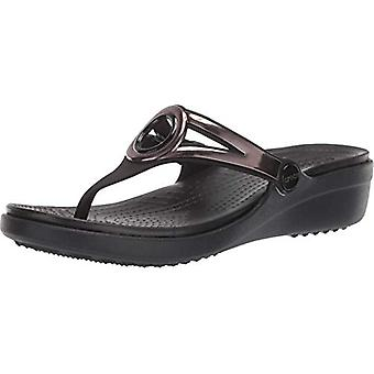 Crocs Women's Sanrah Metallic Strap Wedge Sandal