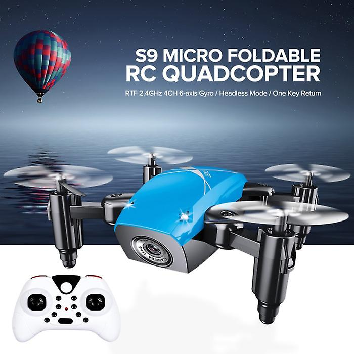Stuff Certified® S9W Mini RC Pocket Drone Quadcopter Toy with Gyro Stabilization White