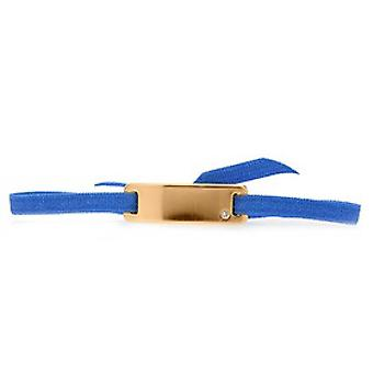 Les verwisselbare armband A55589-lint plaat Smooth Strasse Blue Gold Rose vrouwen