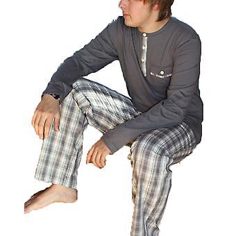 Herren JOCKEY Check & Plain Jersey Baumwolle Pyjama 52229-Black Check-kleine 34-36