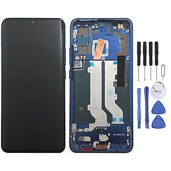 Sillä ZTE Axon 10 Pro OLED-näyttö täysi LCD-yksikkö Touch runko varaosa korjaus sininen uusi