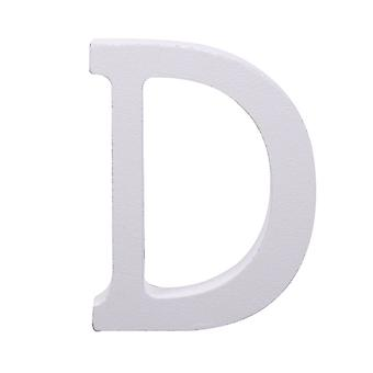 White Large Capital Alphabet Letters-D