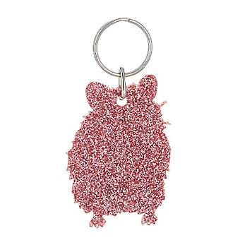 Light Pink Hamster Glitter Acrylic Keyring