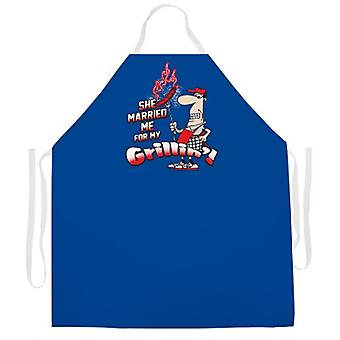 Married Me for Grilling apron