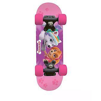 Paw Patrol Kids 17-Inch Maple Wood Mini Skateboard Cruiser Black/Pink OPAW247-F