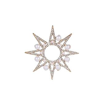 Gold Sterling Star with Pearl Earrings