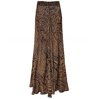 Ganni Tiger Print Georgette Maxi Skirt