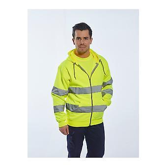 Portwest hi-vis zip front hoodie b305